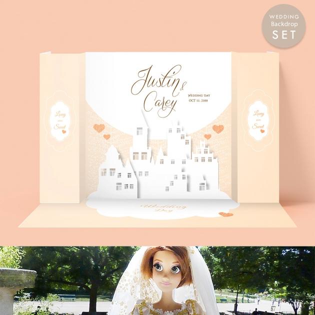 幸福時光城堡 婚禮背板套組(全) 1