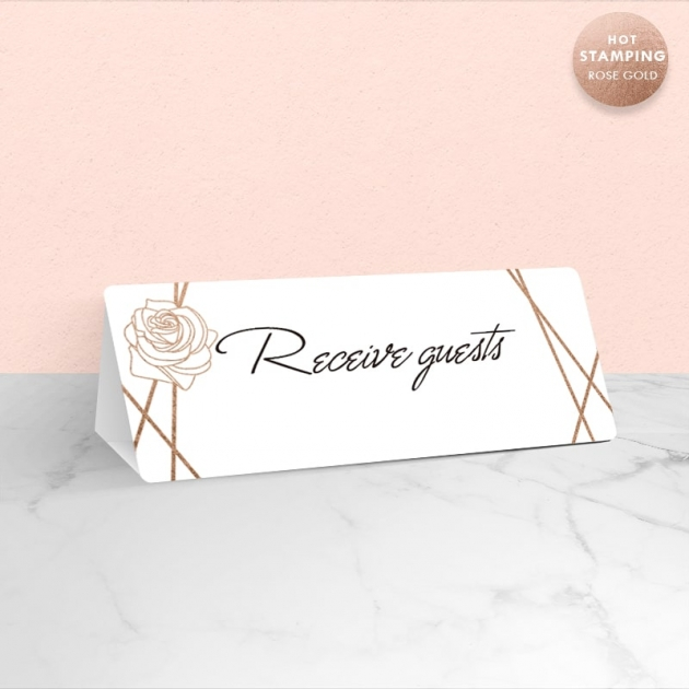 白玫瑰情緣 賓客桌桌卡 1