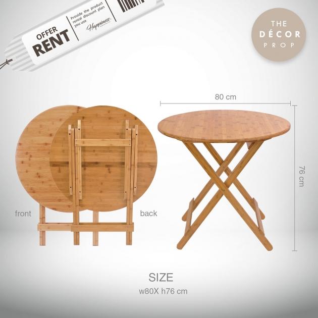 原木摺疊桌 2