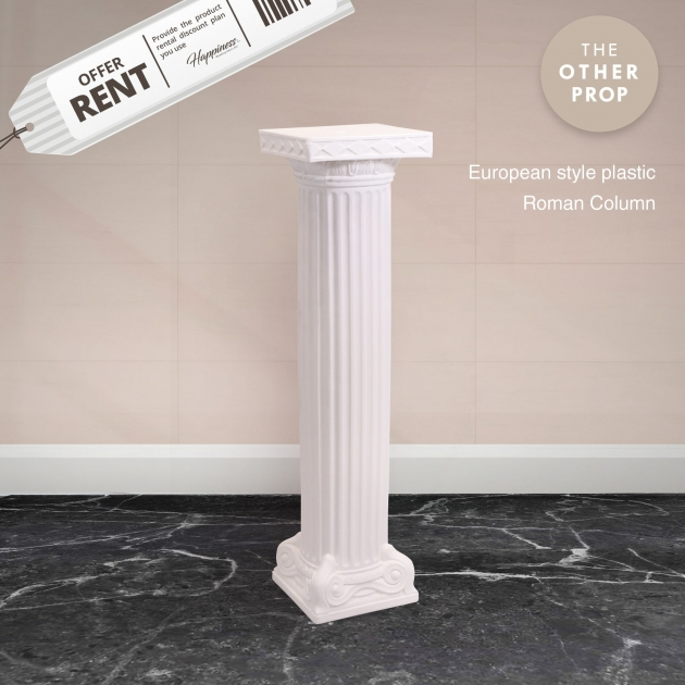 白色羅馬柱 1