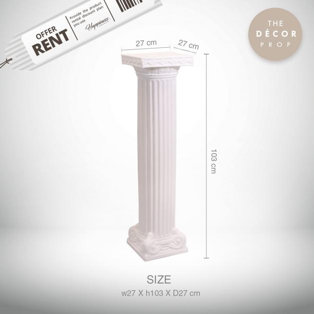 白色羅馬柱 3