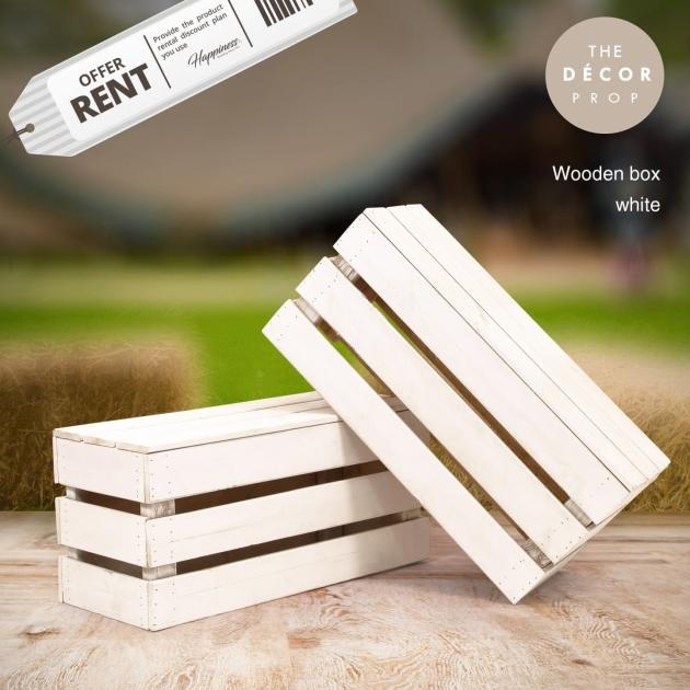 白色原木箱 1